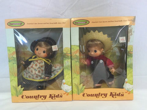 809 Horsman 1976 Country Kids Lot of 2 dolls NRFB - Colleen's Attic - 1