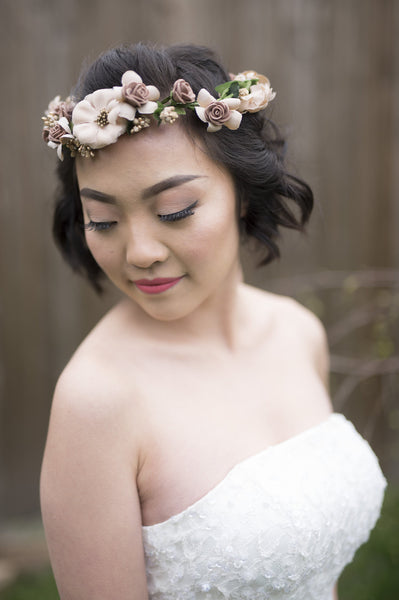 DYSIS - Vintage Flower Crown and Bracelet