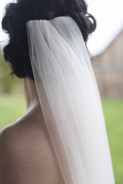 AGLAIA - Simple chapel length veil