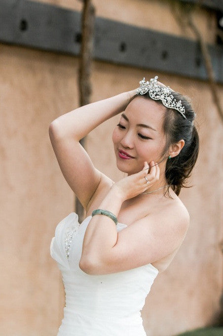 HESTIA - floral crown with gorgeous beads
