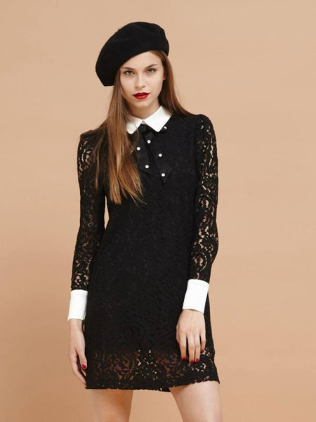 Dark Forest Lace Dress