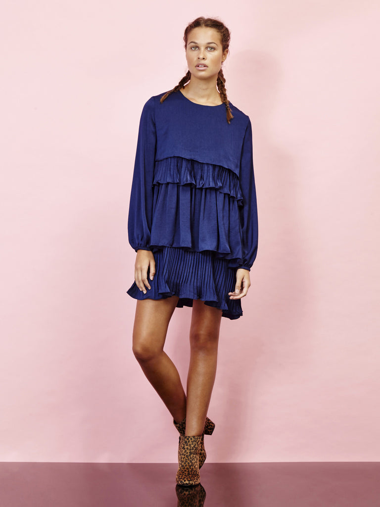 Cityscape Pleated Dress