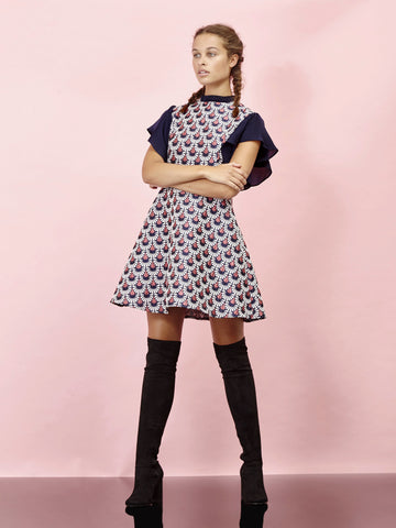 Get Polished Jacquard Dress