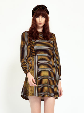 Aquarian Stripe Dress<BR> <h1>條紋洋裝</h1>