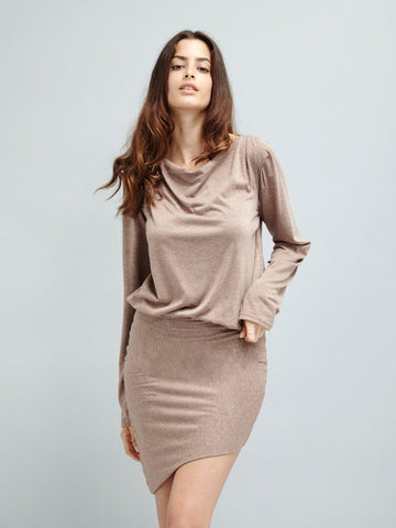 Drapes Down Jersey Dress