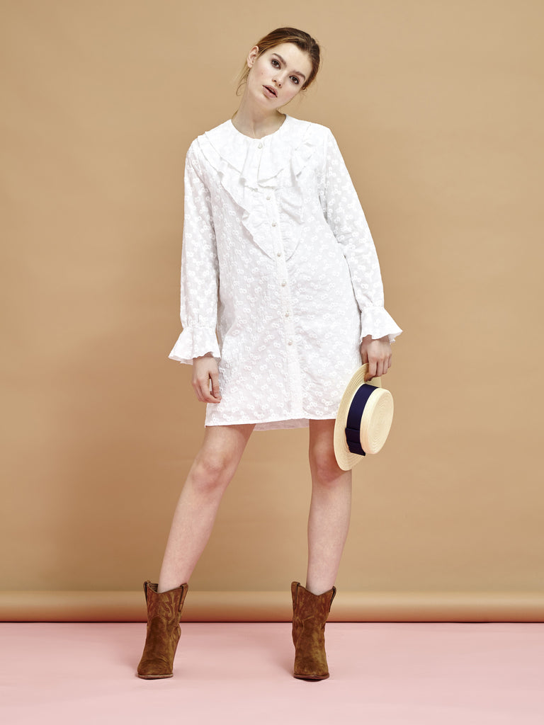 Moonscape Broderie Dress