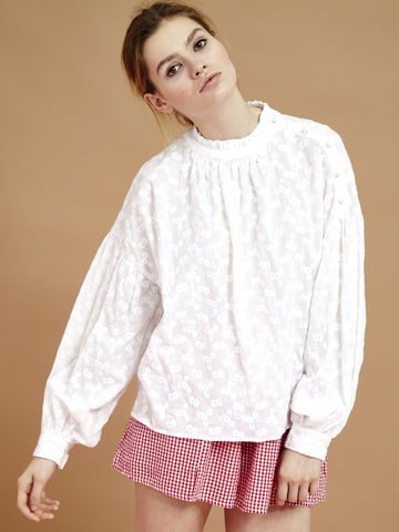 Moonscape Broderie Blouse
