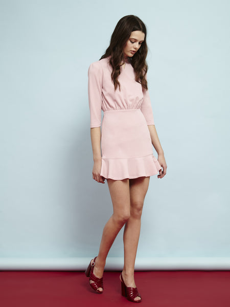 Candy Floss Peplum Dress
