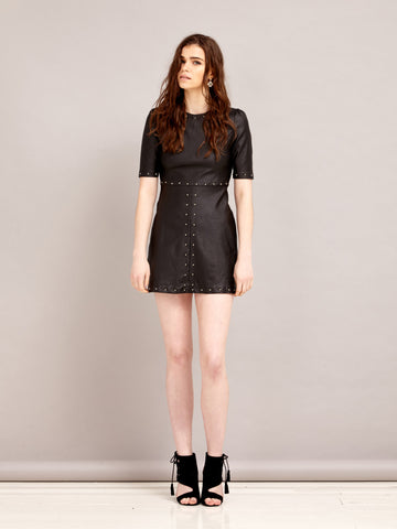 Black Water Studded Dress