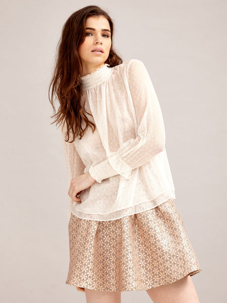Heiress Tulle Blouse