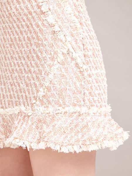 Pink Lemonade Tweed Skirt