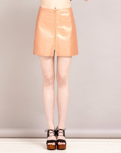 Copper Days Zip Skirt