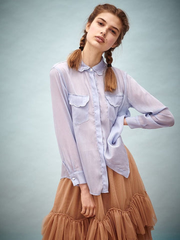 Swim Deep Scallop Blouse