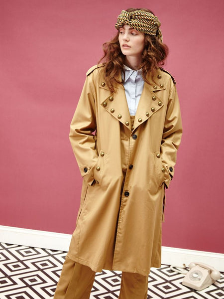 Gatsby Studded Trench Coat