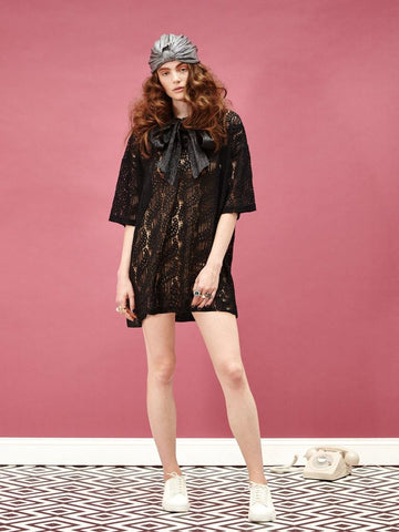 Lost In Stereo Lace Dress