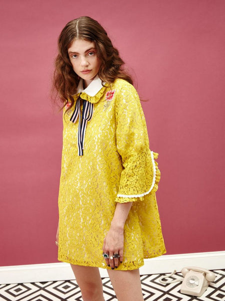 Lemon Spice Patch Dress