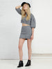 Grey Kint Mini Skirt