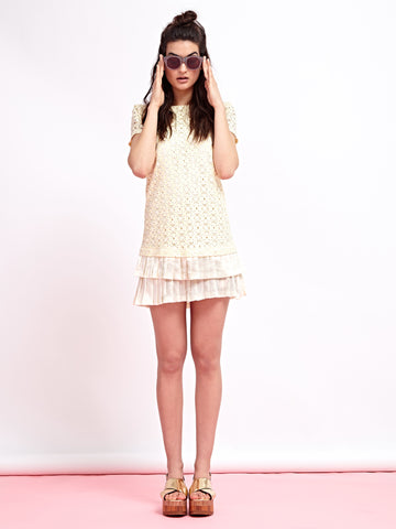 Lemondrop Lace Dress