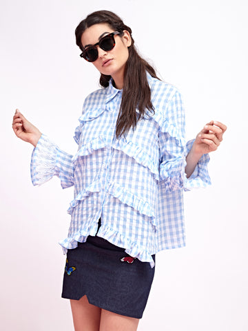 Checkmate Gingham Blouse