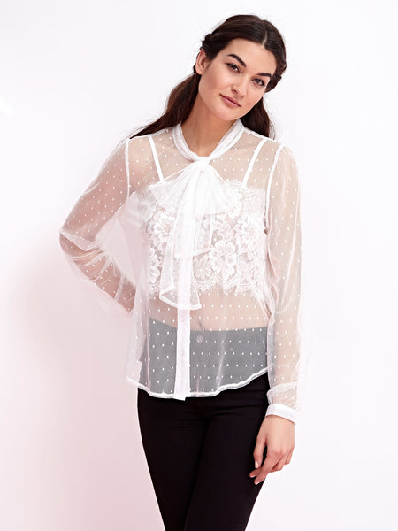 Saltwater Tulle Blouse