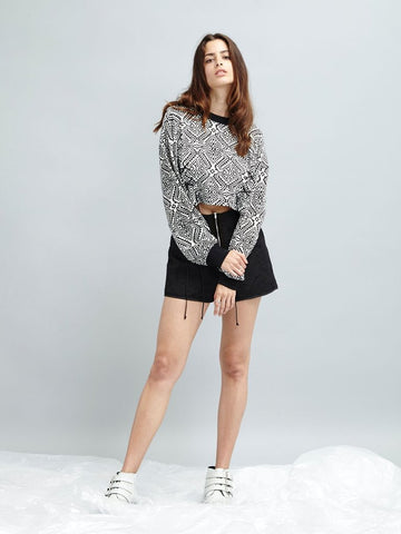Radio Silence Cropped Sweater