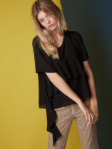 Paint it Black Ruffle Top
