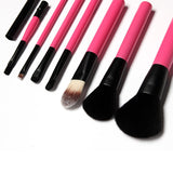 7Pcs Makeup Brush Set (Pink)