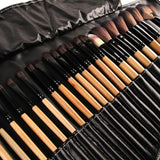 32 Piece Makeup Brush Set (Black)