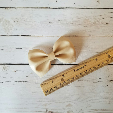 Ivory - Faux Leather - Grace Bow