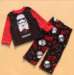 Star Wars Storm trooper fleece winter pyjamas size 4-10