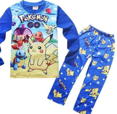 Pokemon Go winter pyjamas blue 3/4 - 8/10y