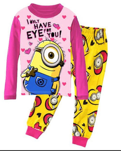Minion pink winter Pyjamas size 2-7