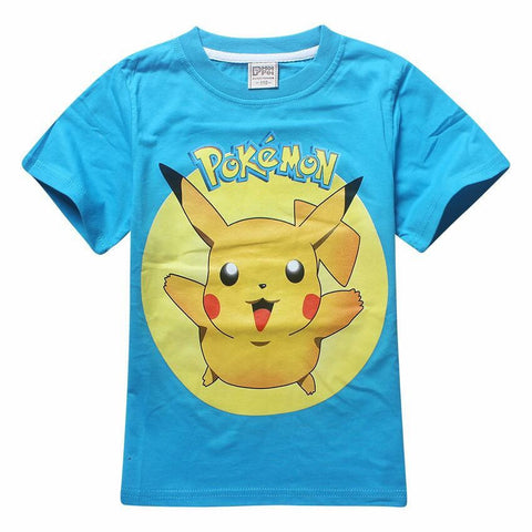 Pokemon Pikachu blue T-shirt