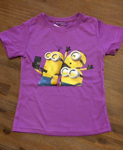"Girls Minions ""selfie"" T-shirt, 2 colours"