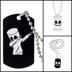 Marshmello necklace, 1pc or 3pc set