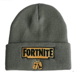 Grey Fortnite beanie