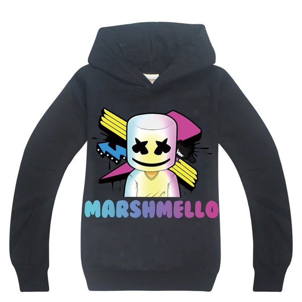 RESTOCKED! Black Marshmello Fortnite hoodie sz 5-12 IN STOCK small make