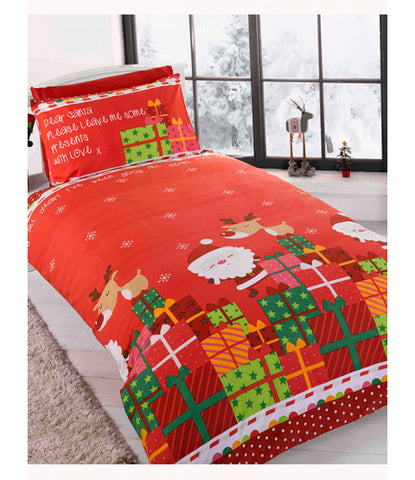 Dear Santa single duvet cover set