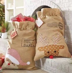 Santa sacks, 2 designs