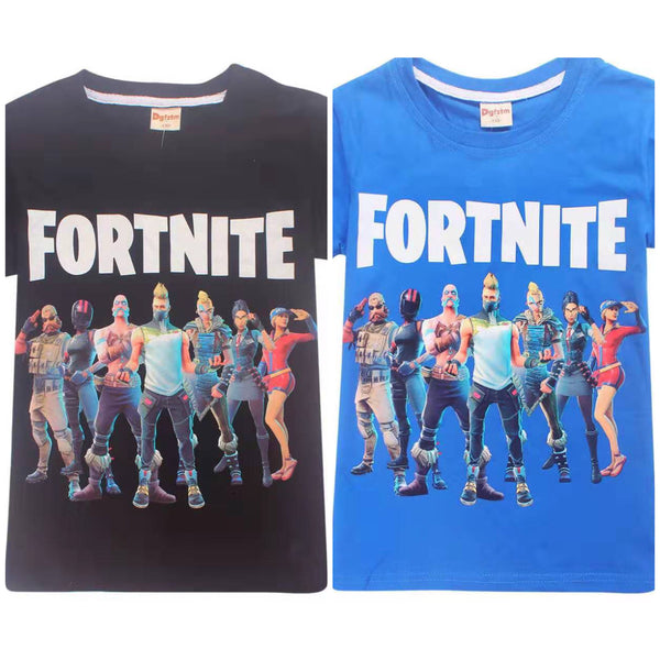 Fortnite group T-shirt back or blue  NEW 2019 Sz 10/12 & 12/14 ONLY