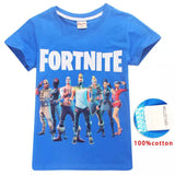 Fortnite group T-shirt back or blue  NEW 2019 Sz 6-12