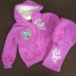 paw patrol purple track suit size 2