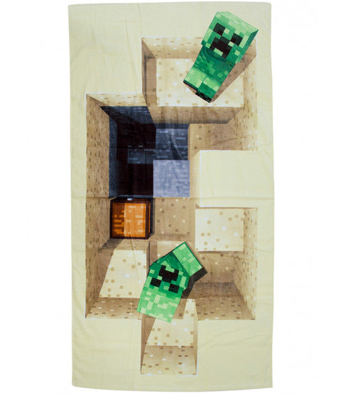 Minecraft creepers beach towel IN STOCK