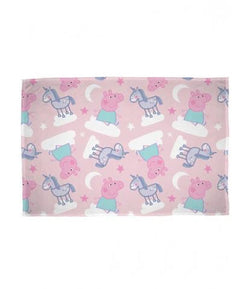 Peppa pig throw blanket