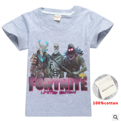 NEW 2019 SUMMER Grey Fortnite Lmited edition T-shirt
