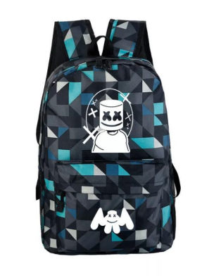 Marshmello glow in the dark backpack geometric