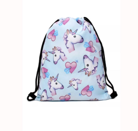 Blue unicorn library bag