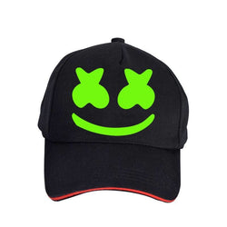 Marshmello glow in the dark hat black