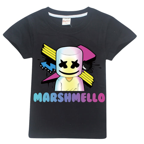 Marshmello T-shirt BLACK  Sz5-12, IN STOCK