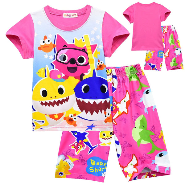 Baby shark PJ size 2-6 pink